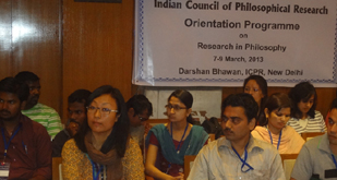 Programme inaugurated by Professor Mrinial Miri, Chairman ICPR on 7 March 2013 at ICPR,  Darshan Bhavan, New Delhi.